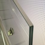 Stainless Cap on Laminated Glass Rail