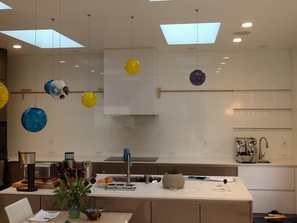 Back Painted Glass for Kitchen Back Splash