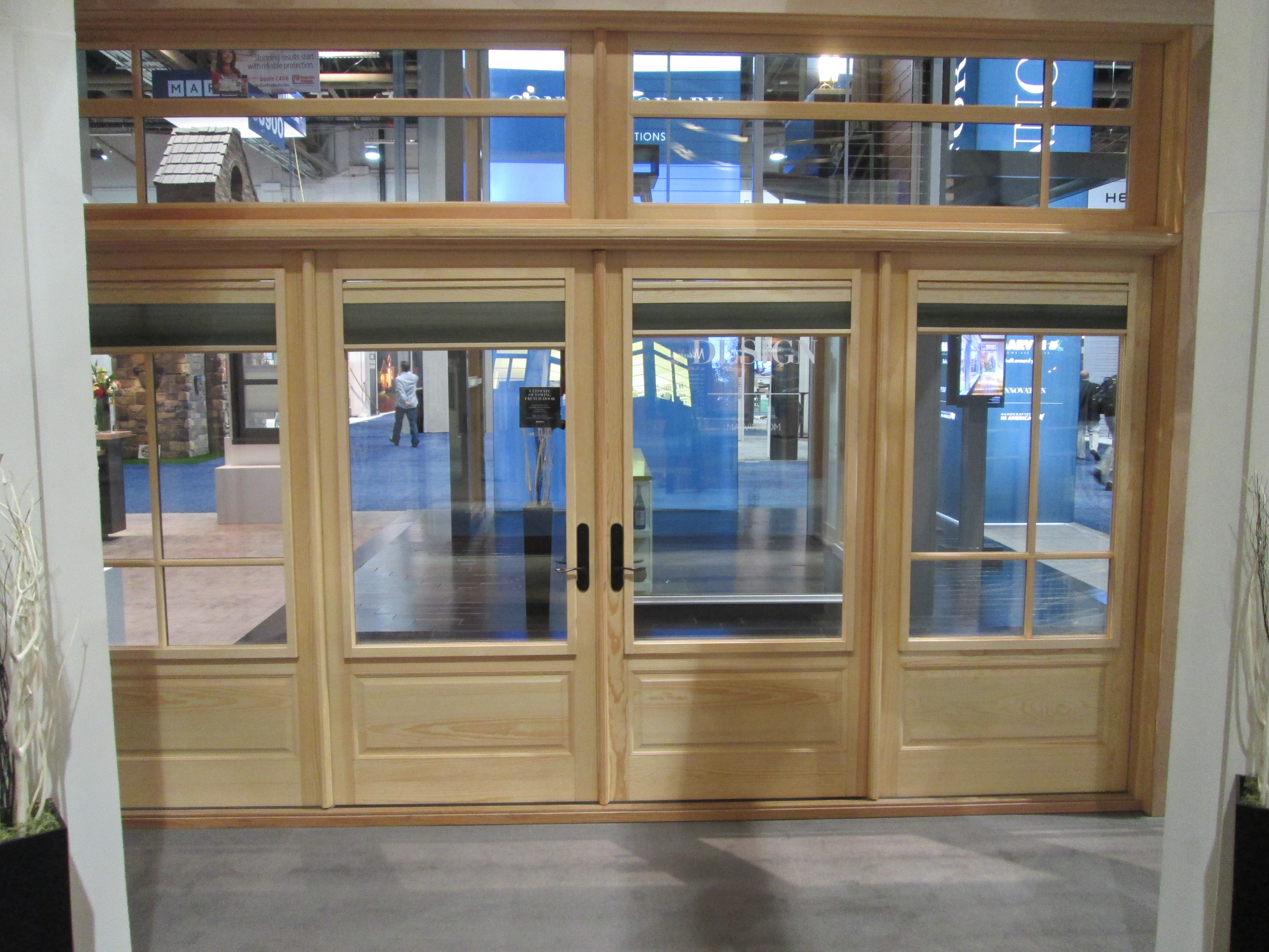 Interior shades for windows and doors from marvin ot glass for Marvin transom windows