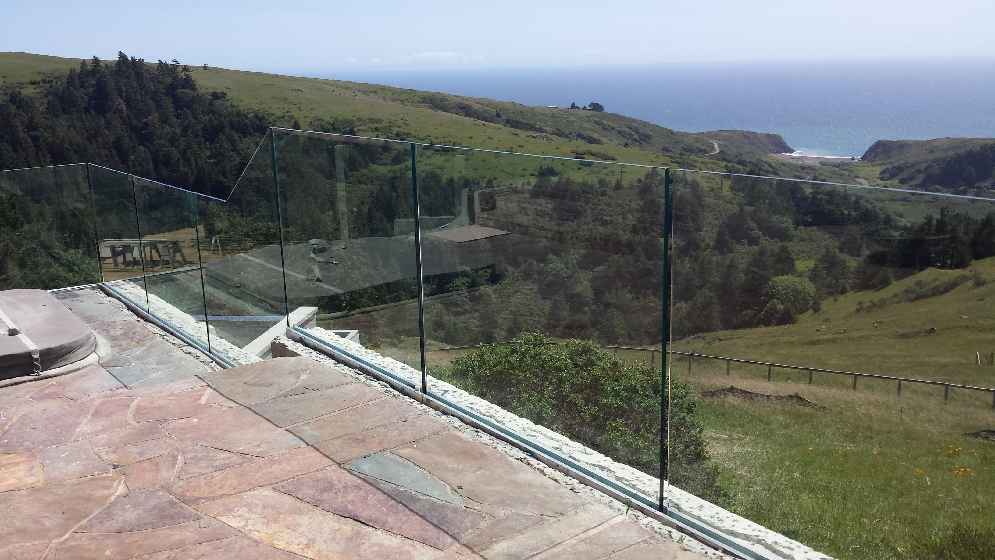 Glass railings for decks - Tempered Laminated Glass Railing