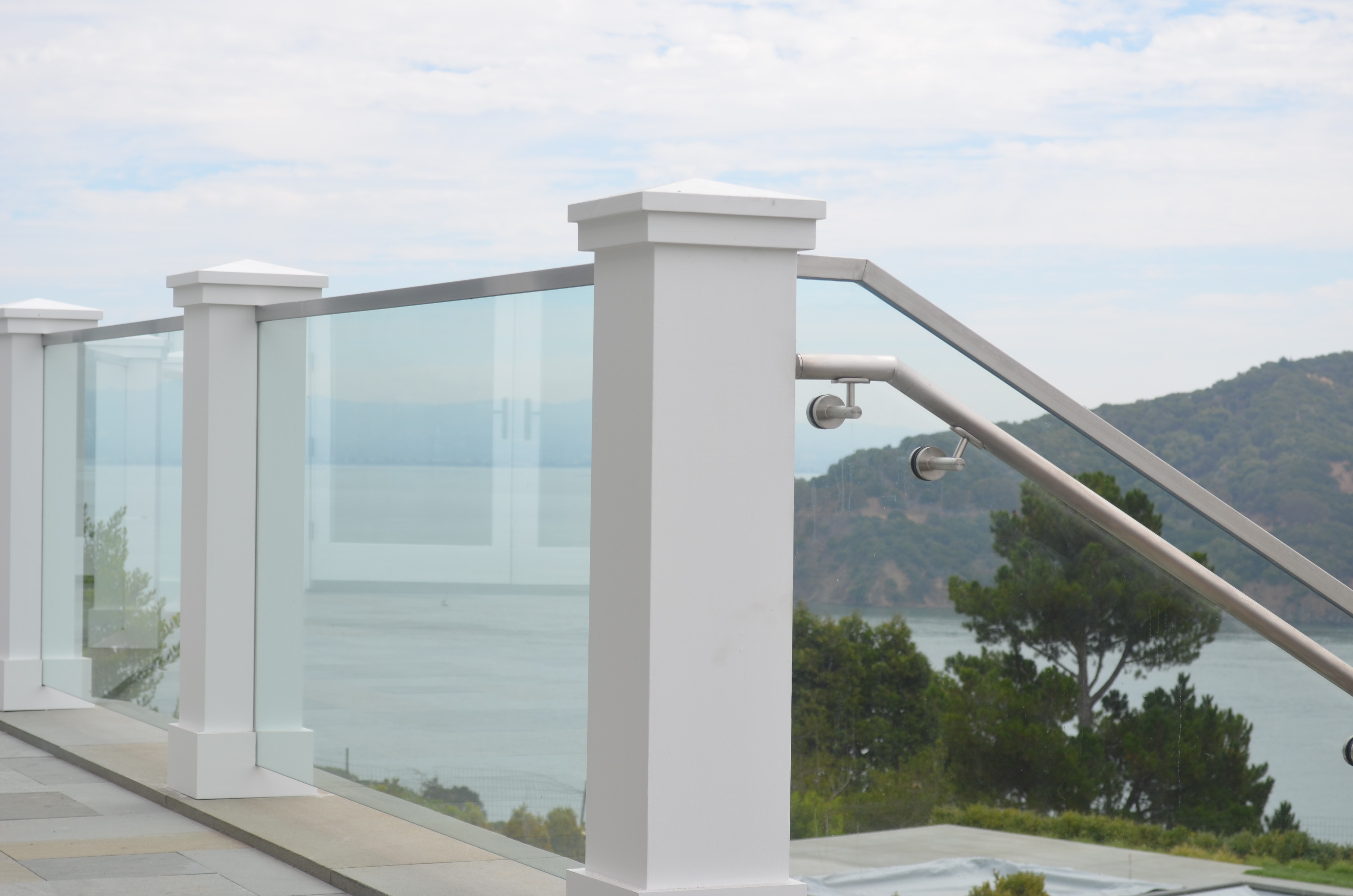 Glass railings for decks - Tiburonglassdeckguardrailingstainlesscaphandrail 11