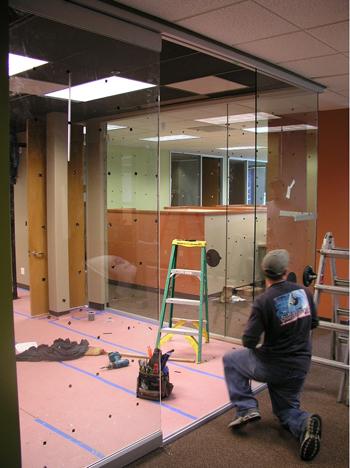 Glass Server Room