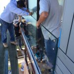 Glass Rail Installation 2