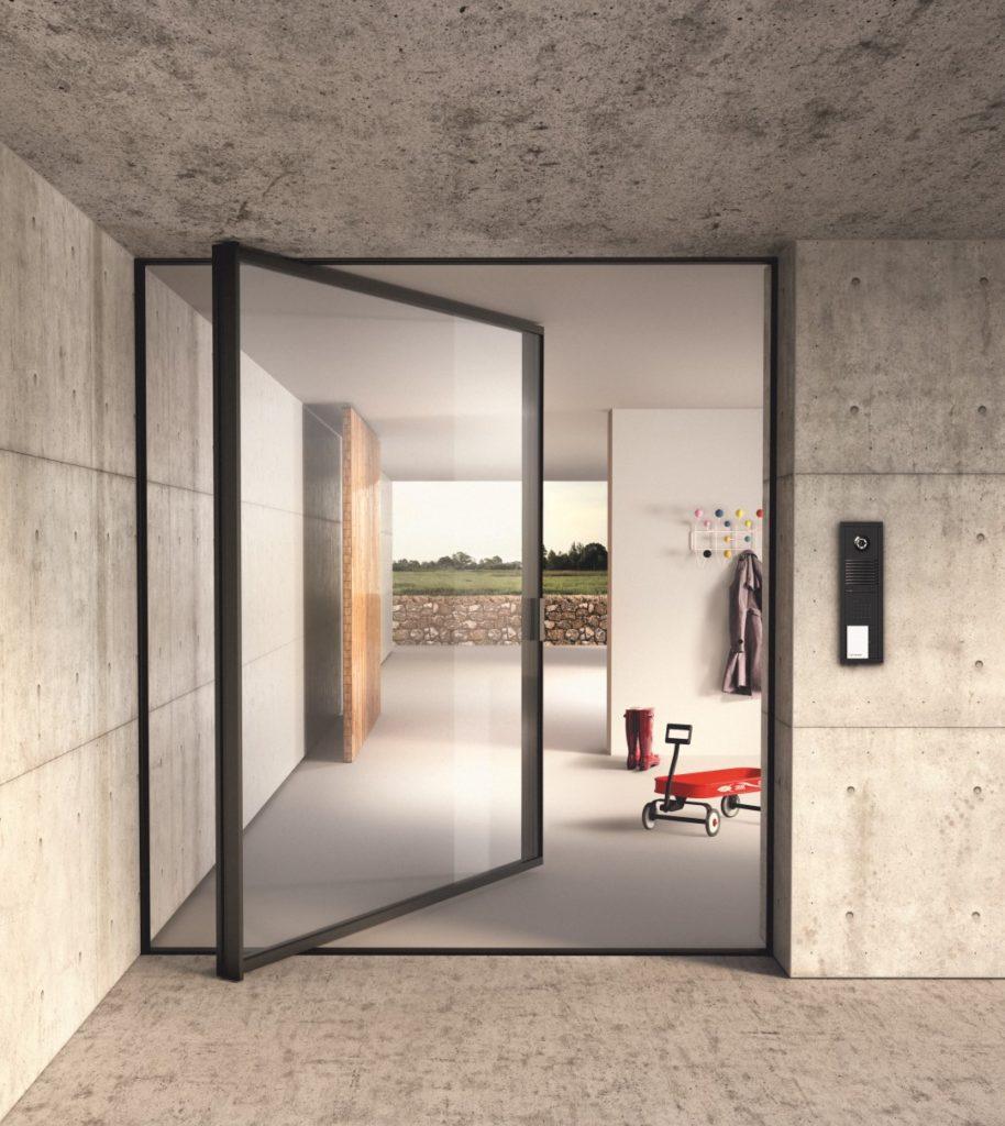 sky-frame pivot door