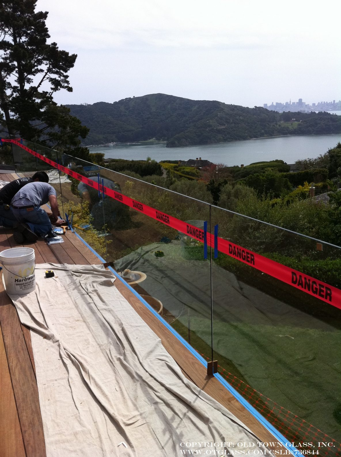 Glass Deck Rail, Installation Photos