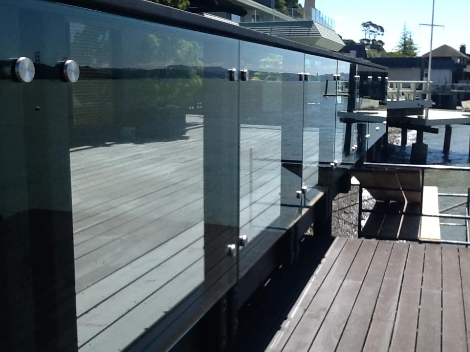 Custom Standoffs For Glass Deck Rail Infill Panels