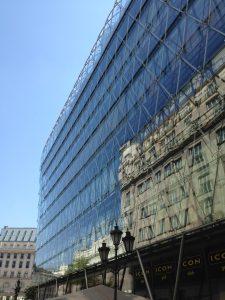 Glass Exterior Budapest Building