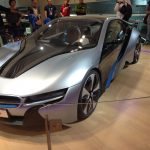 Curved Glass Barrier around a BMW Concept Car