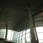 Interior View of Large Glass Facade at BMW