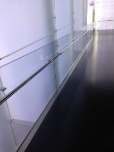 Munich Glass Rail with Stainless Handrail