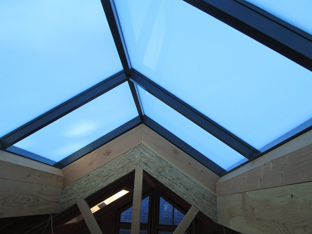 Custom Ridge Skylight Install in Bolinas