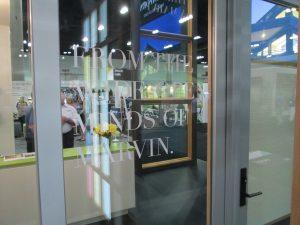 Marvin glass doors exhibit