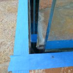 Glass deck railing - stone inset 2