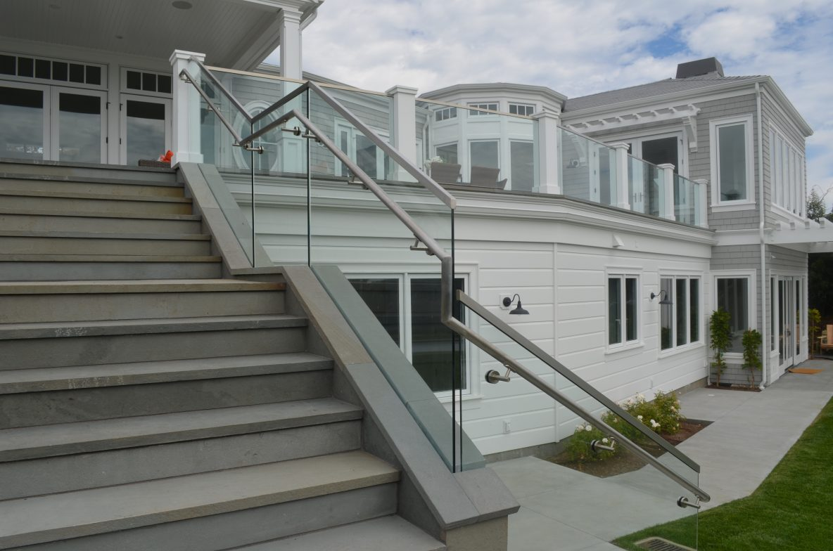"Tiburon Glass Railing System, 1/2"" Tempered, Stainless and Hand Rail"