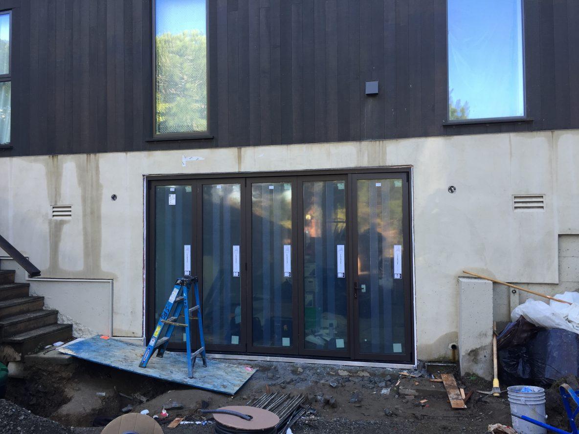 Contemporary Aluminum Bifold Door Install