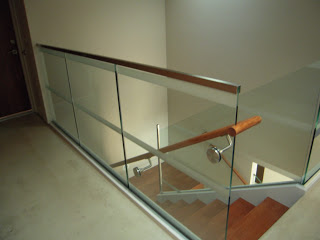 Tiburon Sandblast Glass Rail