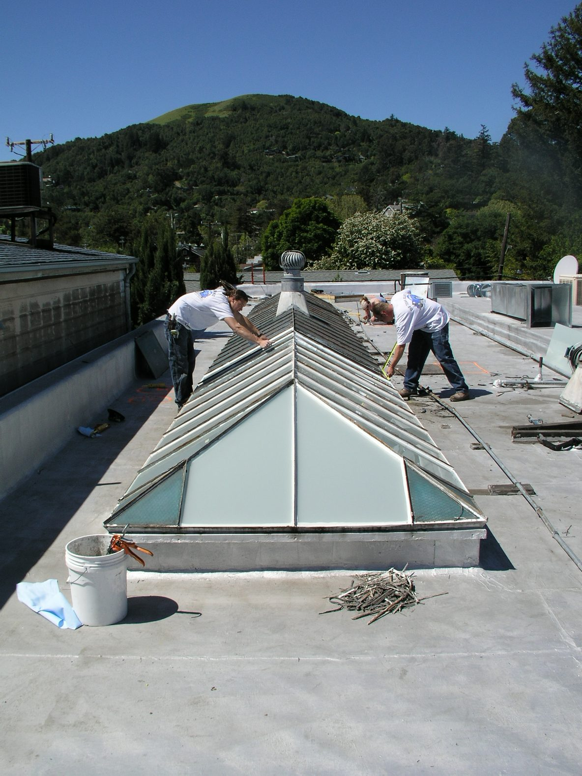 Glass Replacement: Old Steel Skylight
