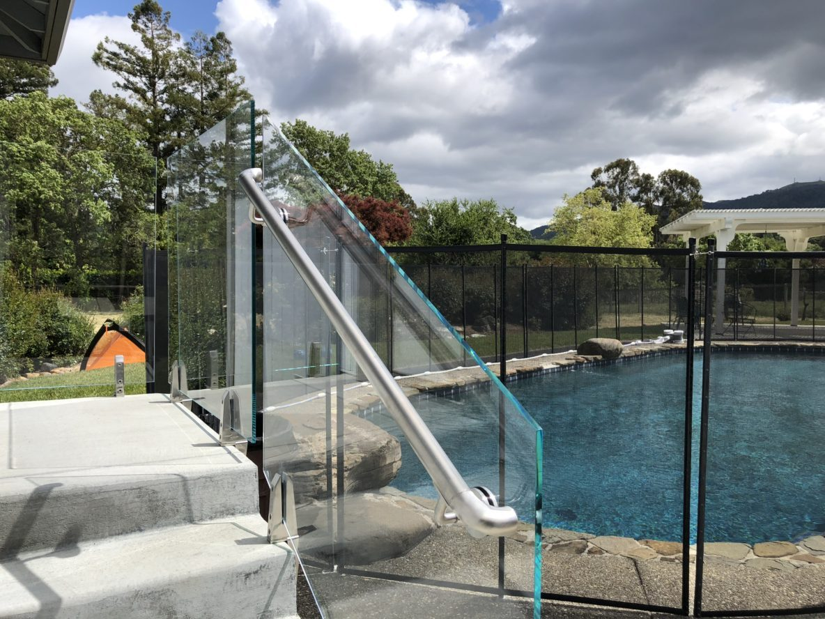 Poolside Glass Railings